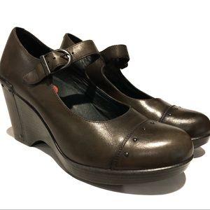 Dansko • Leather Mary Jane Wedge• Size 10